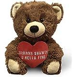 Zamnnn Shawty U Hella Fine - 10 Inch Teddy Bear & Gift Bag - Valentines Day Teddy Bear; Funny Cute Stuffed Animal, Birthday,