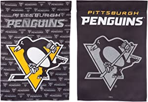 Team Sports America Pittsburgh Penguins Suede Garden Flag, 12.5 x 18 inches