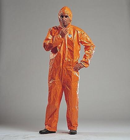 F Tychem CHA5 químico naranja & Biohazard traje tamaño ...