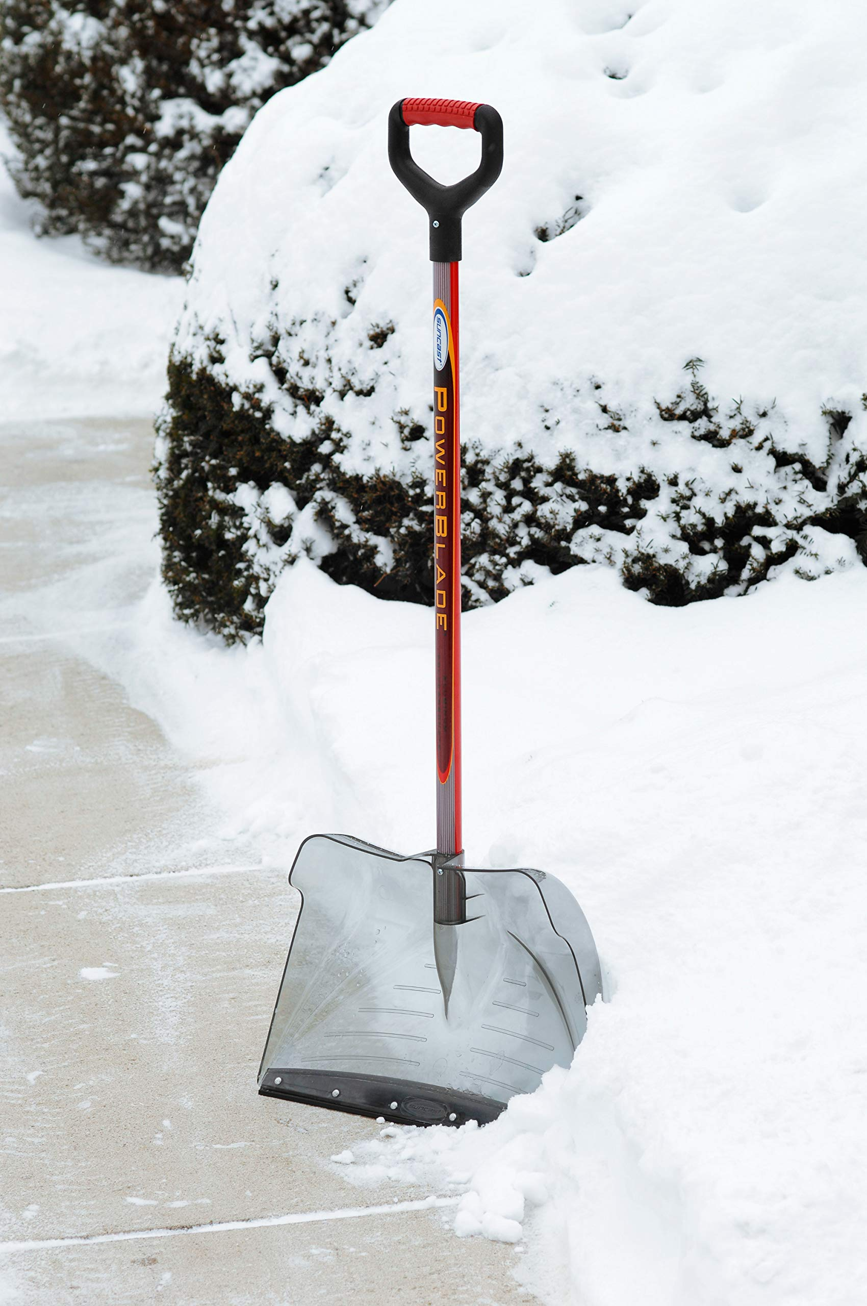 Suncast SCP3500 20-Inch Snow Shovel/Pusher Combo Powerblade with Shatter Resistant Polycarbonate Blade with D-Grip Handle And Wear Strip by Suncast