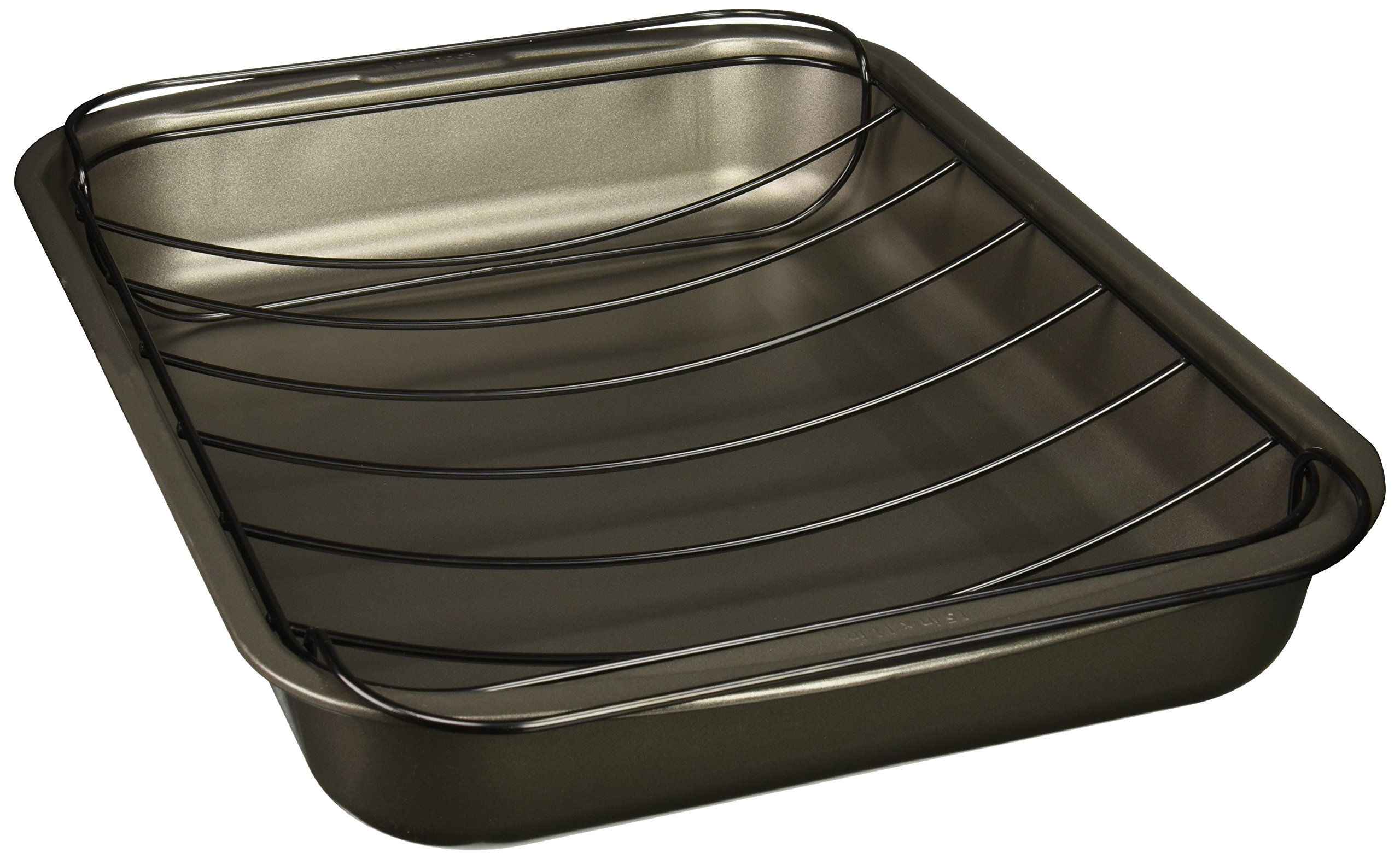 Good Cook Nonstick Large Roast Pan with Rack, 15 x 11'', Gray by Good Cook