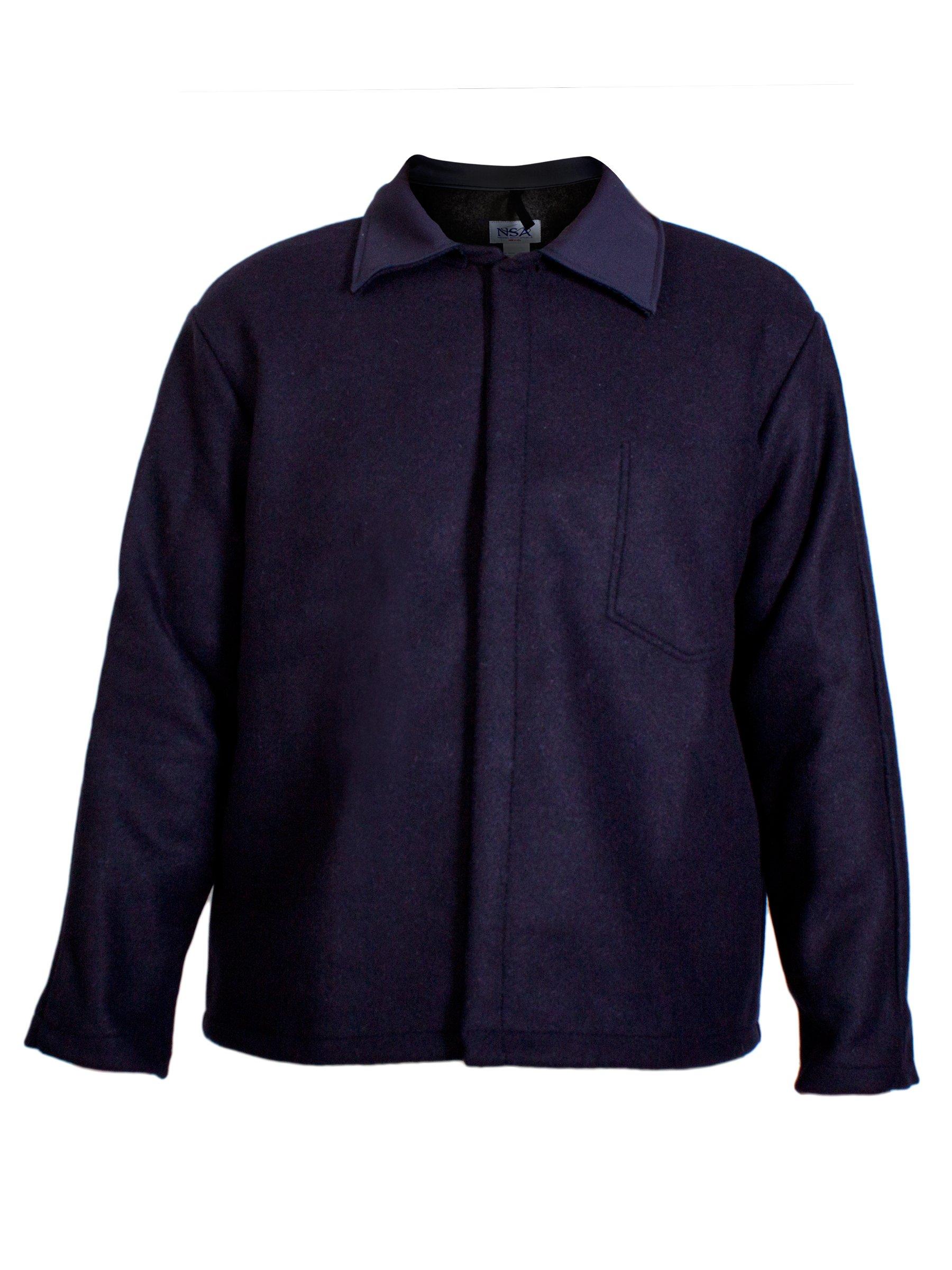 National Safety Apparel  C09WL2X30 Wool Coat, 32 oz., XX-Large, Navy