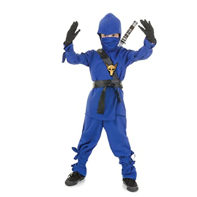Underwraps Costumes Children's Blue Ninja Costume, Medium 6-8 Childrens Costume: Clothing