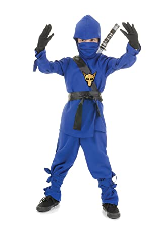 Underwraps Costumes Childrens Blue Ninja Costume, X-Large 14-16 Childrens Costume