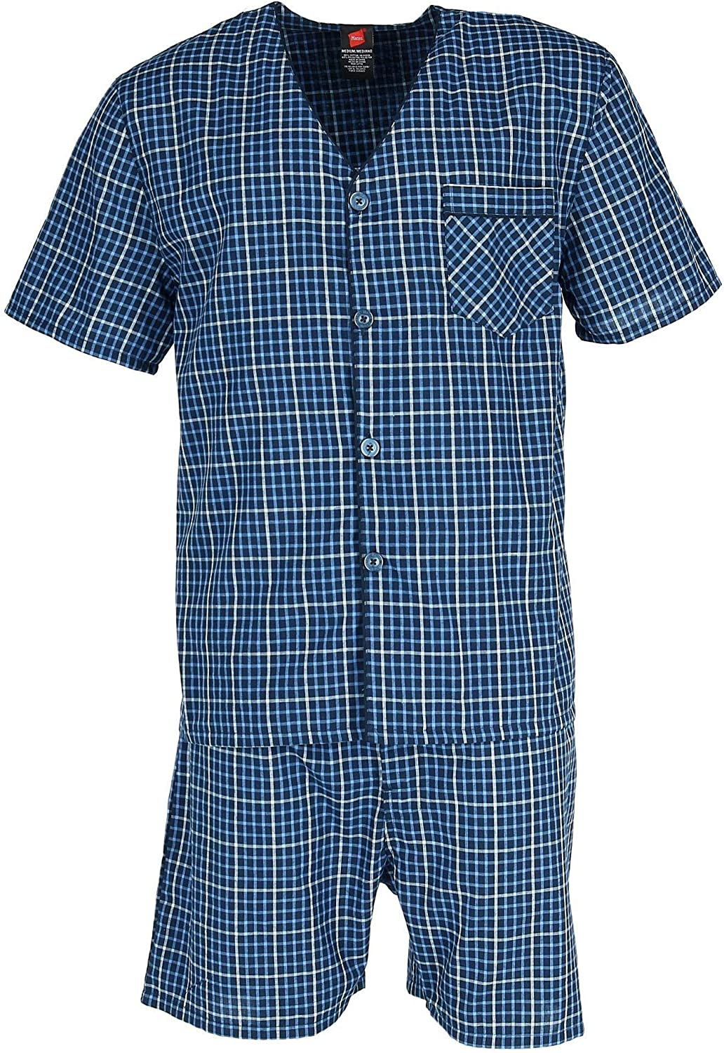 Hanes Mens Short Sleeve Short Leg Pajama Set