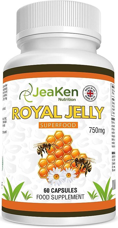 JALEA REAL por JeaKen - 60x750mg vegetarianos y veganos cápsulas - Para el cabello y la