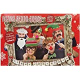 Festive Photo Booth Props with Card Frame