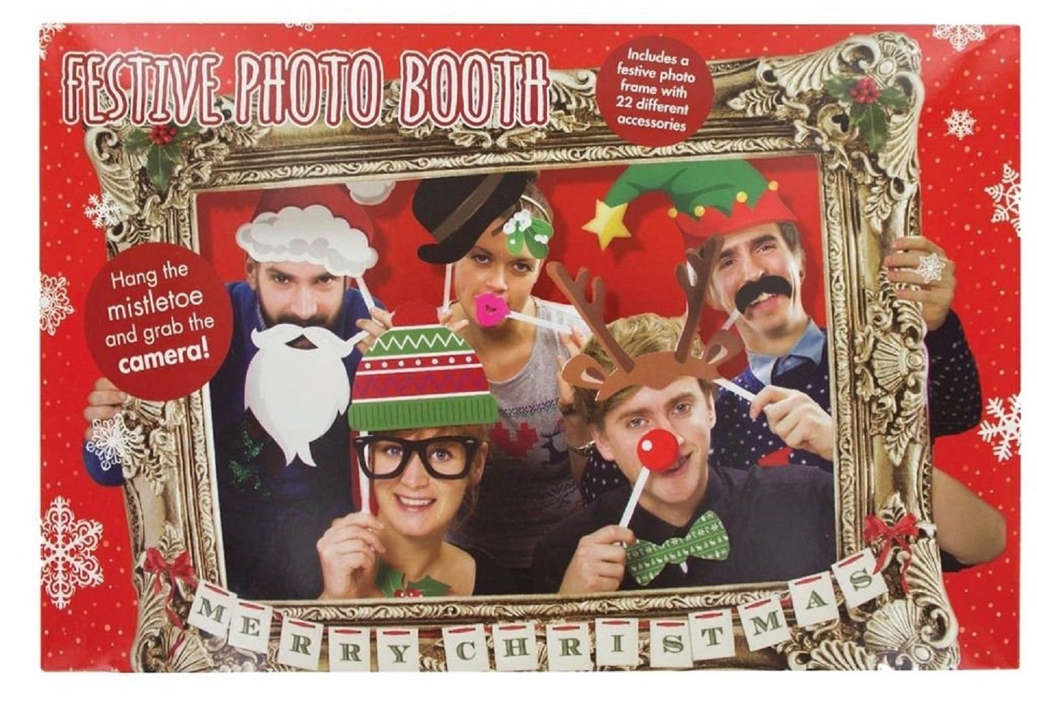 Amazoncom Festive Photo Booth Props With Card Frame Toys Games