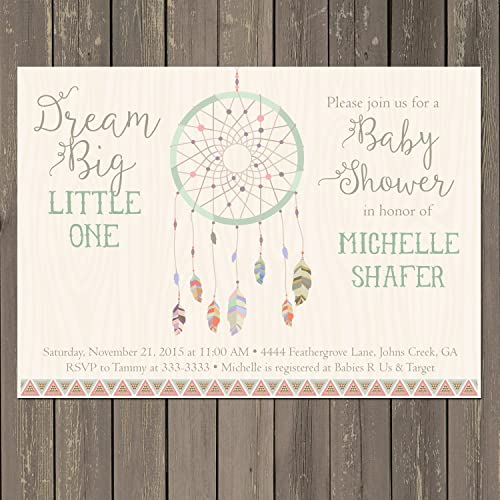 amazon com dreamcatcher baby shower invitation dream catcher