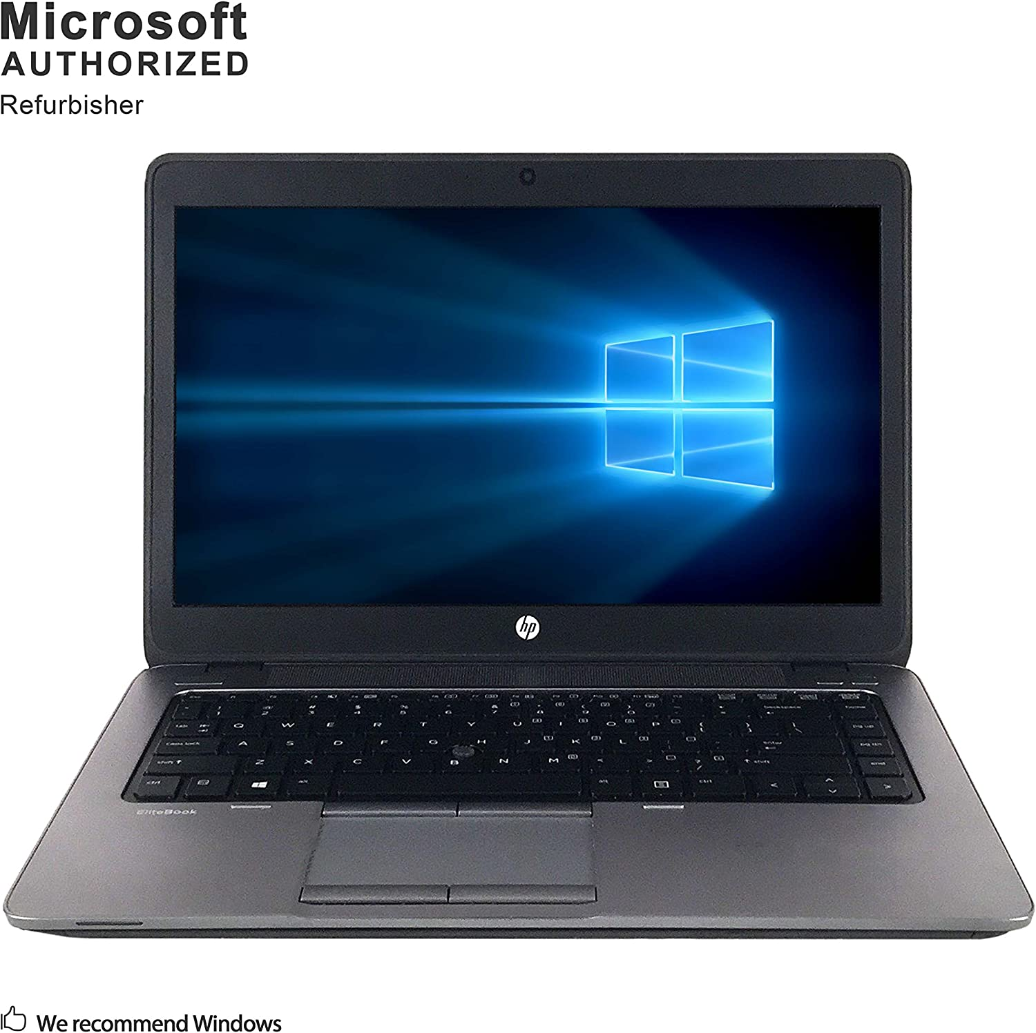 HP EliteBook 840 G2 14 Inch Business Laptop, Intel Core i7-5600U up to 3.2GHz, 8G DDR3L, 500G, WiFi, USB 3.0, Display Port, Windows 10 64 Bit Multi-Language Supports En/Fr/Sp(Renewed)