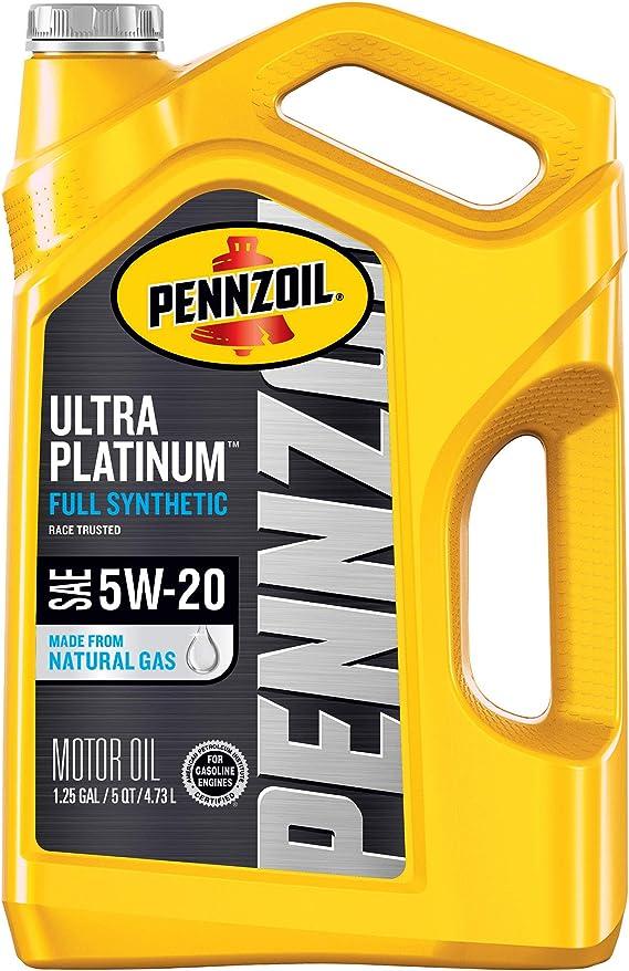 Pennzoil Ultra Platinum Full Synthetic 5W-20 Motor Oil (5 Quart