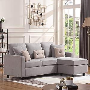 HONBAY Convertible Sectional Sofa
