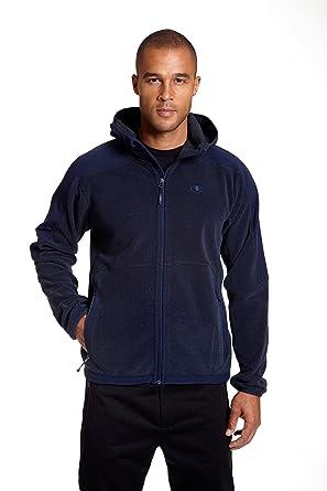 a538ffe5642 Champion Men s Hooded Textured Fleece Jacket at Amazon Men s ...