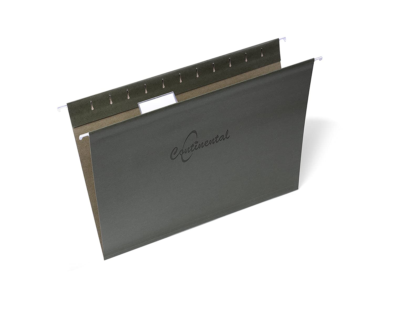 Standard Green Hanging Folders, Letter size, Recycled, 25 Per Box, Tabs Included
