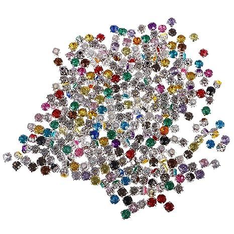 36f7b8cd3031 MagiDeal 300pcs Accesorios de Coser Profesional Cristales De Diamante Adorno  De Acrílico Rhinestone DIY - Color