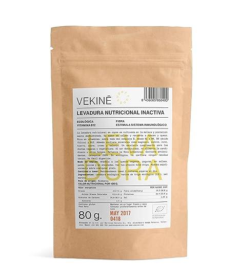 Levadura nutriconal inactiva en copos Ecológica 80 gr superalimentos CALIDAD EXTRA VEKINE Levadura con la vitamina