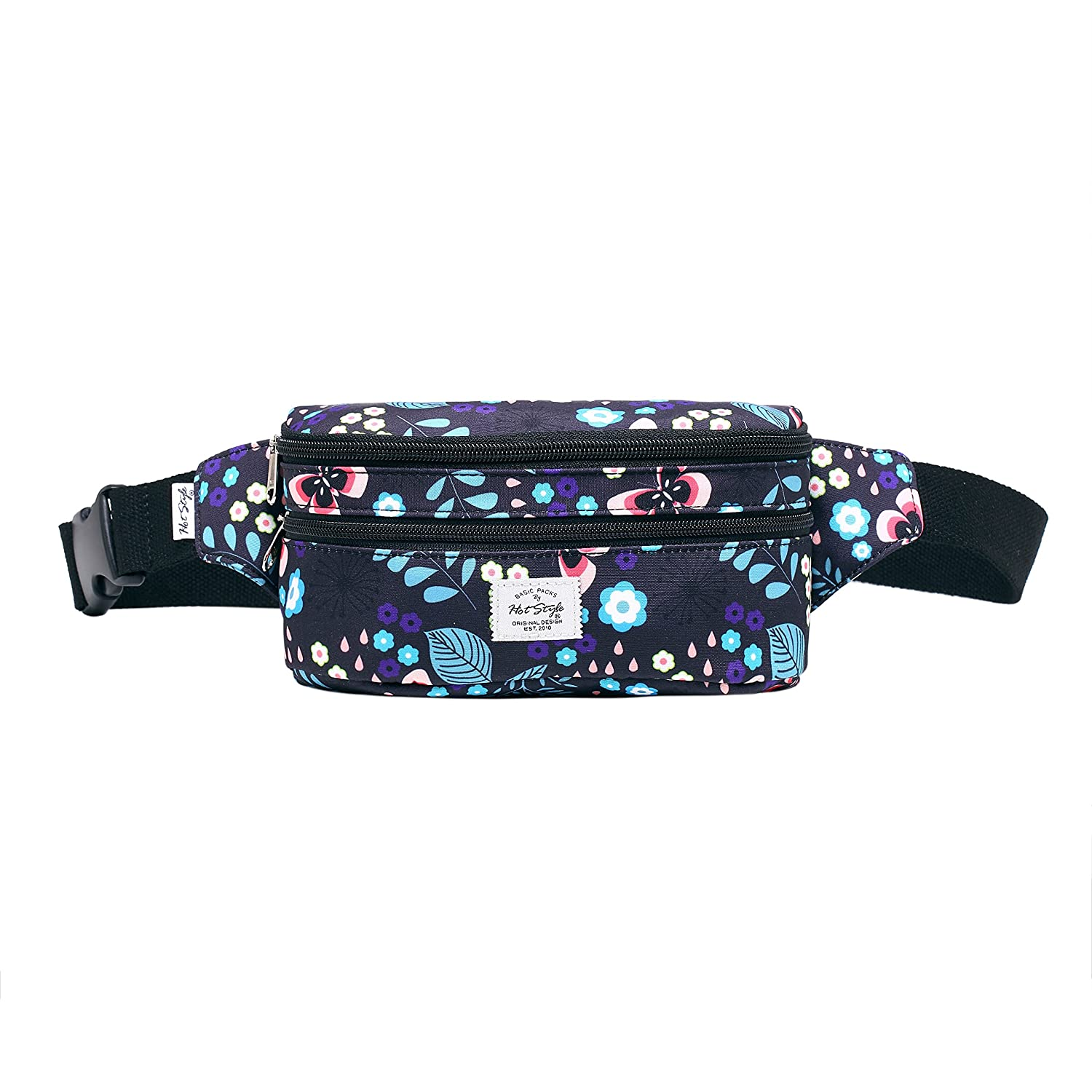 521s Fashion Waist Bag Cute Fanny Pack | 20x6x11 cm | Polkadots HTS021A