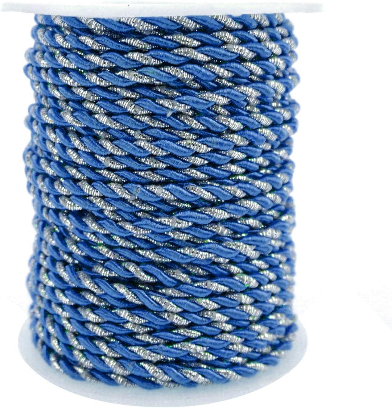 Homeford Metallic Twisted Cord Rope Trim 3mm 25-Yard Pink