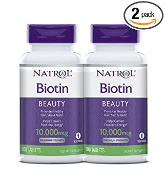 Natrol Biotin Maximum Strength Tablets - Best Natural Biotin Supplement