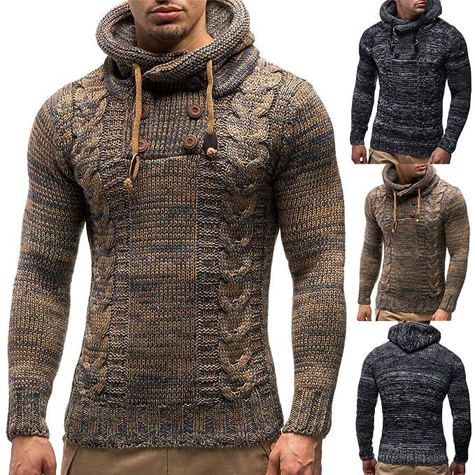 Malloom Chaqueta de la Chaqueta de Punto de los Hombres Chaqueta de Punto con Capucha Sudor Sudadera suéter suéter: Amazon.es: Ropa y accesorios