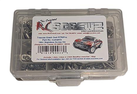RCScrewZ Traxxas Slash 1/10 2WD RTR/Pro Stainless Steel Screw Kit - tra033  - for Traxxas kit 58024 / 58034