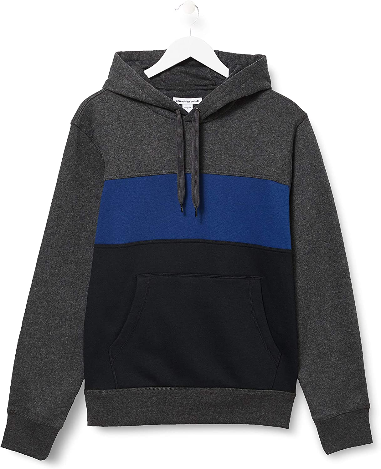 Essentials Mens Fleece Pullover Hooded Sweatshirt