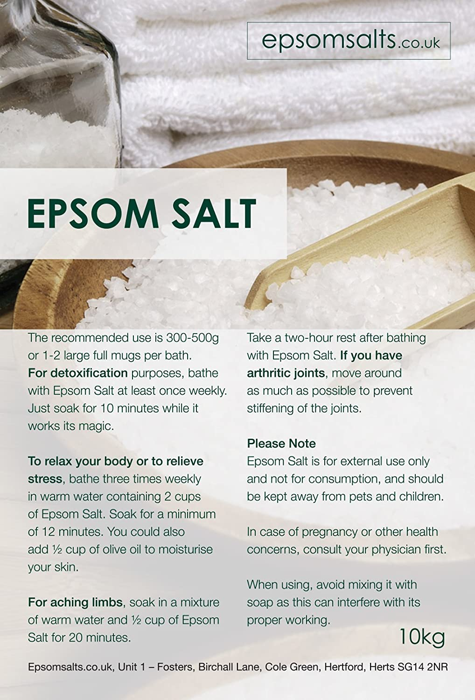 Epsom Salts 10 Kg Medical Grade Amazoncouk Beauty