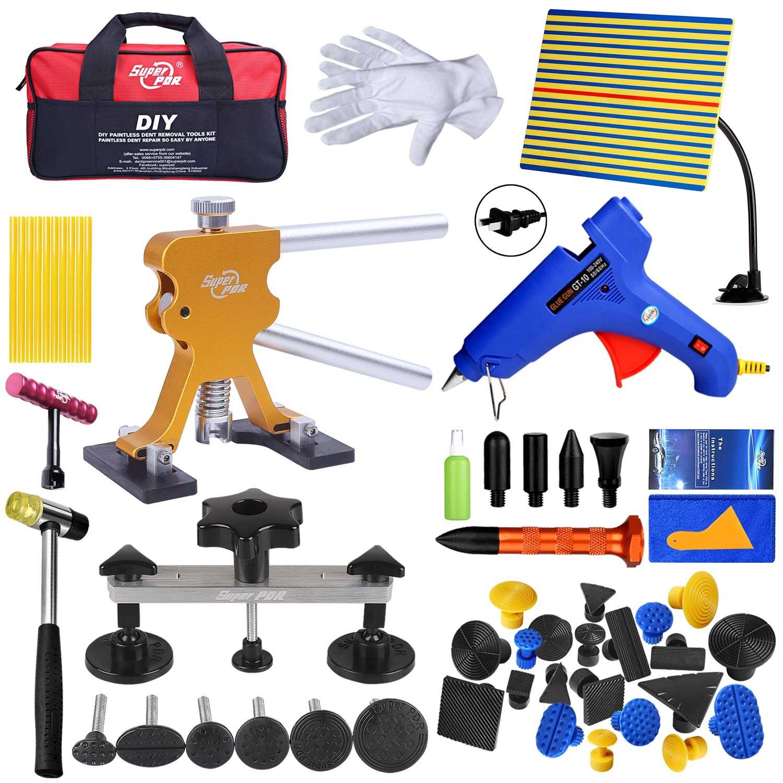 Fly5D Paintless Auto Car Body Dent Repair Removal Kits Set Dent Glue Puller Lifter Body Shop Repair Tools (54pcs)