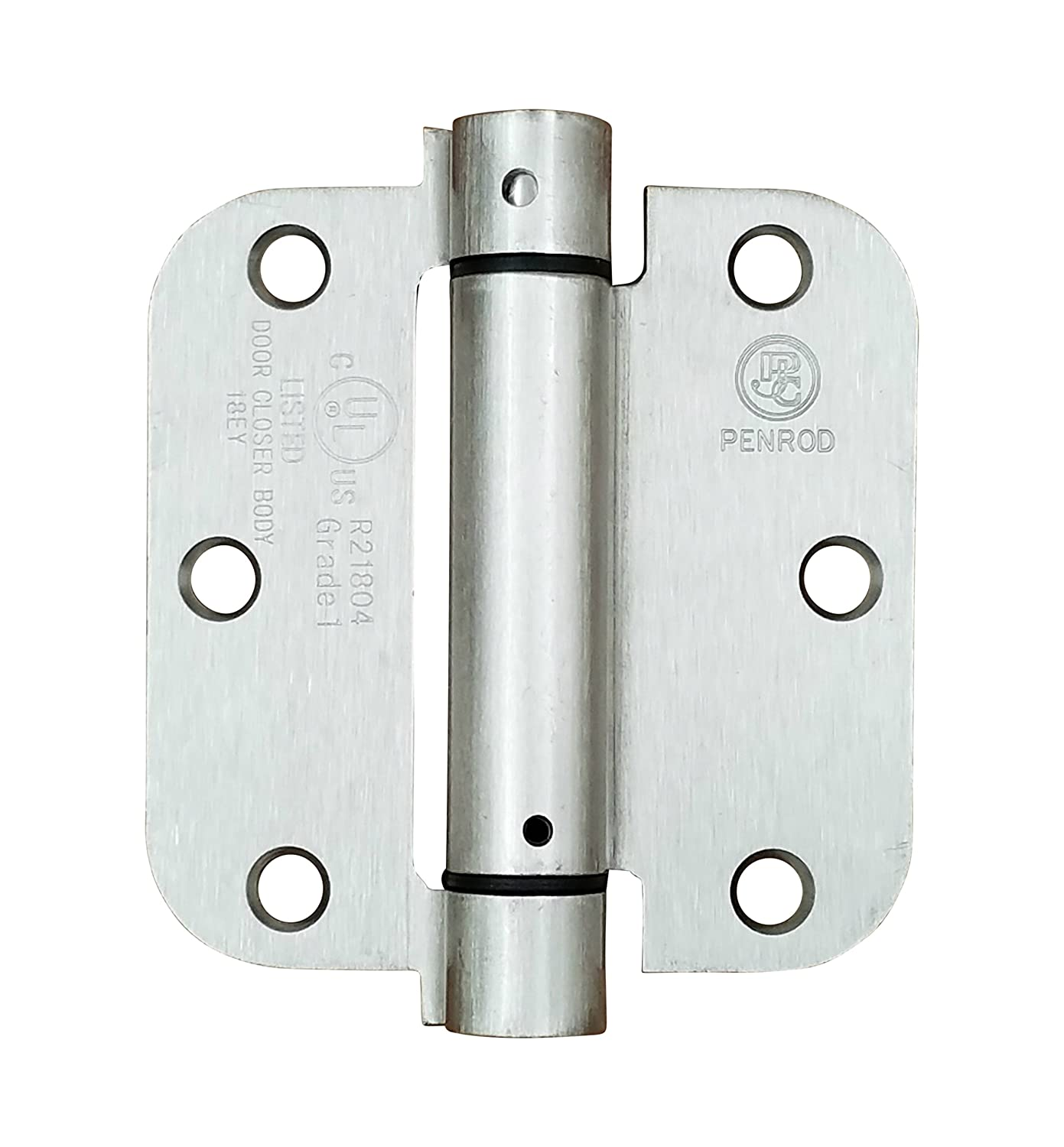 3.5 Inch with 5//8 Inch Radius 2 Pack Penrod Spring Hinges for Doors Satin Nickel