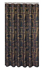 spring Home Cabin Pine Lodge Wildlife Shower Curtain