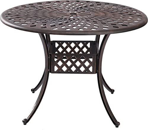Reviewed: Kinger Home Outdoor Patio Dining Round Table