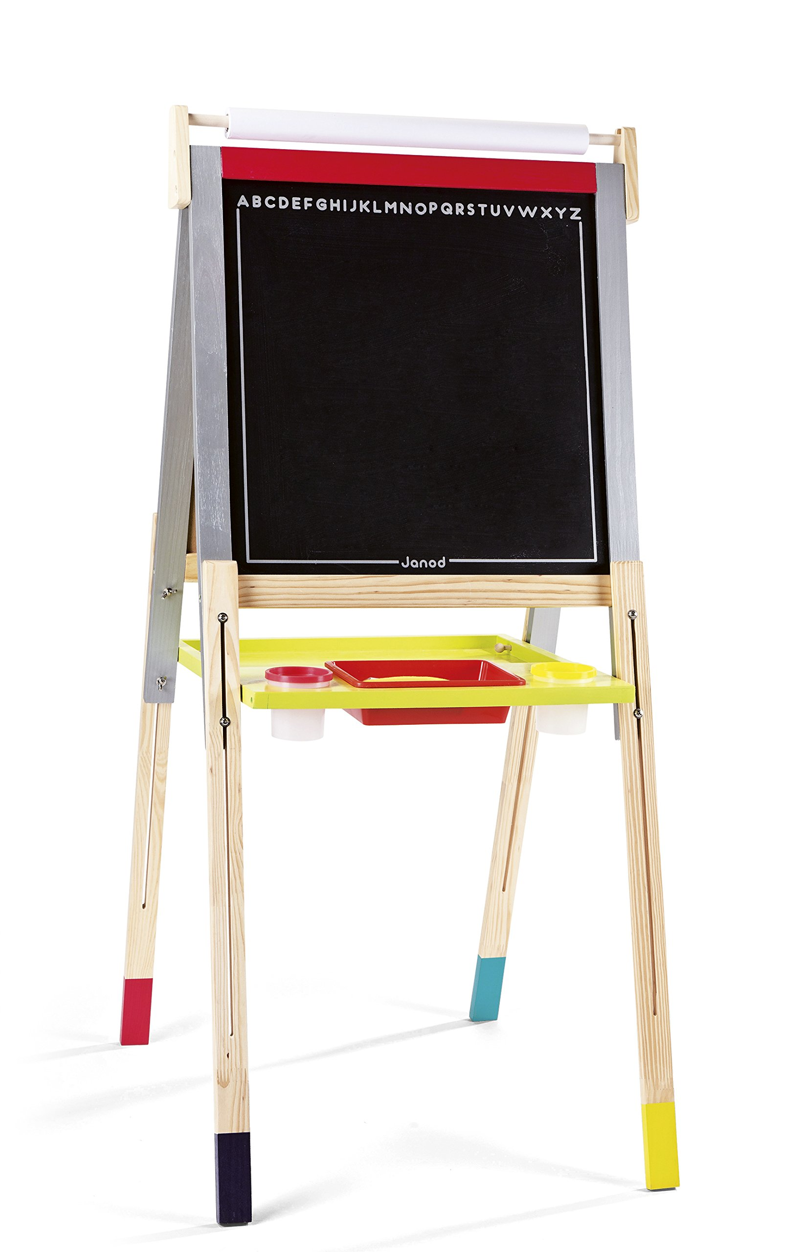 Janod Height Adjustable Black and White Board
