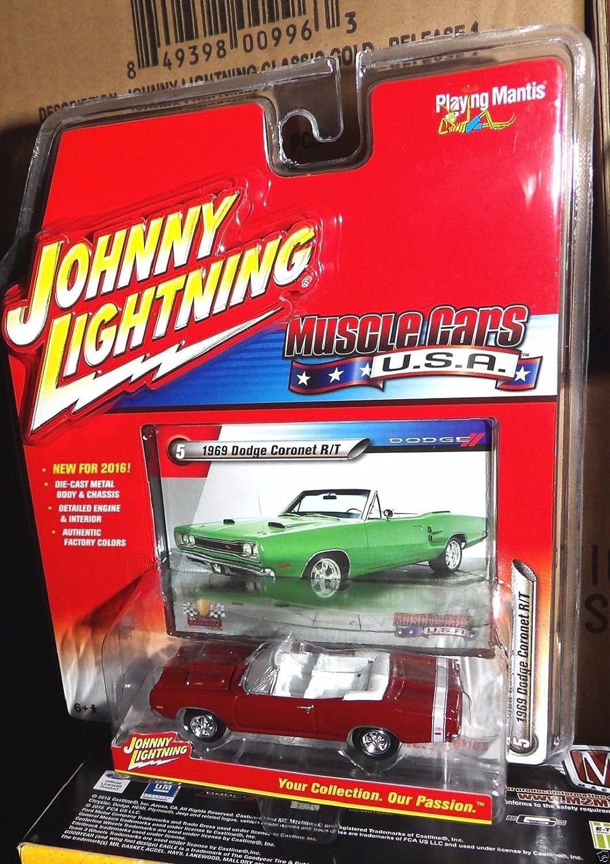 Johnny Lightning 2016 Muscle Cars USA 1969 Dodge Coronet R//T Red Praying Mantix