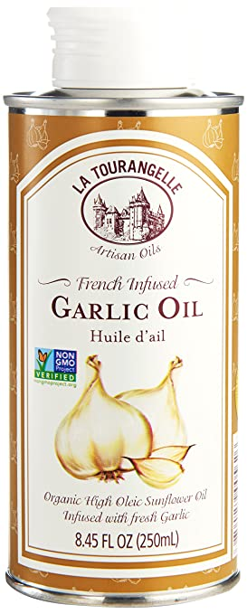 La Tourangelle, Garlic Infused Sunflower Oil, 8 45 Fl  Oz