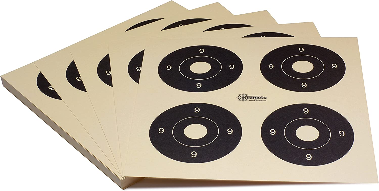 26x26 cm//Schie/ßscheibenkarton 200 g//m/² Chamois Zielscheiben *Target X4*