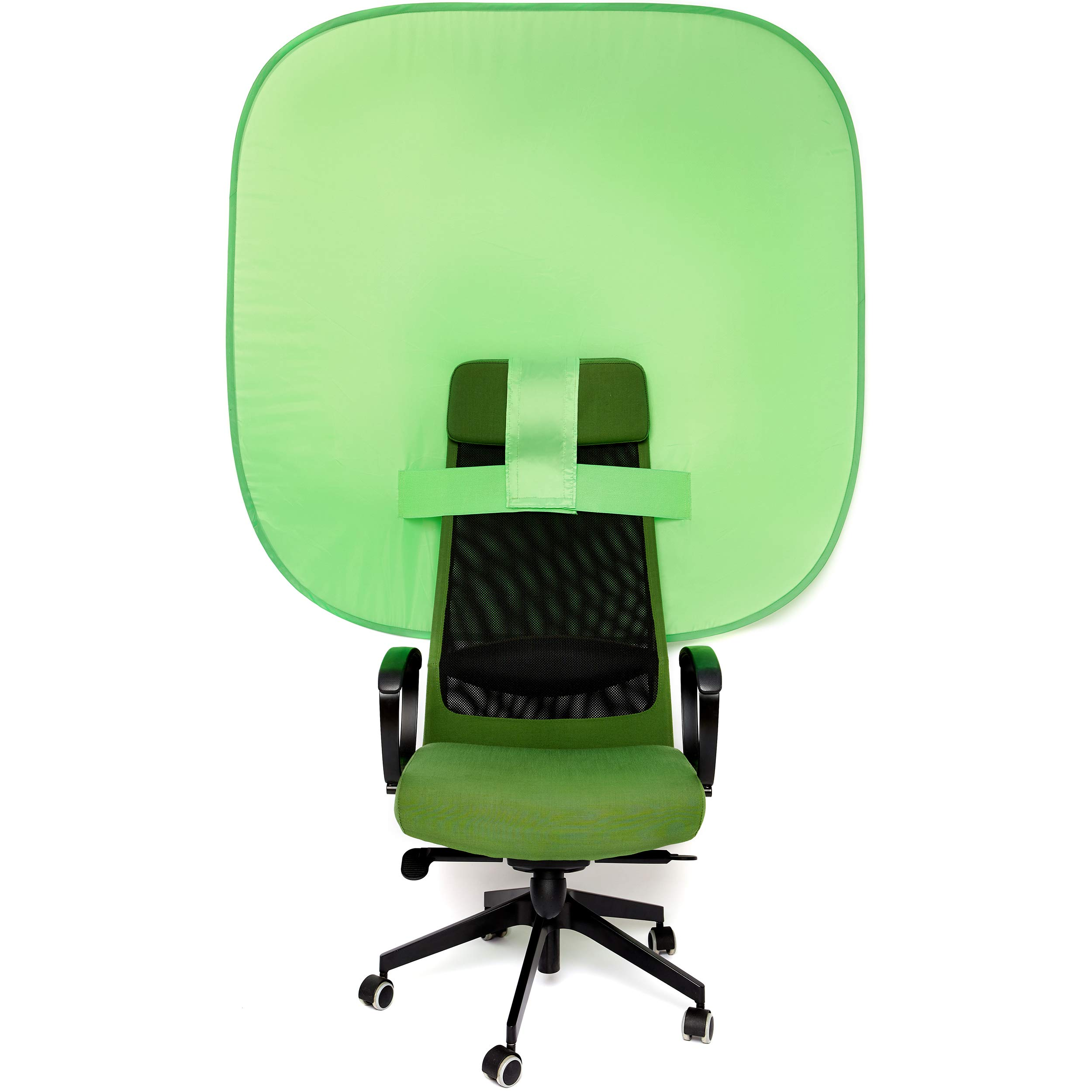 Portable Chair Green Screen - Collapsible Greenscreen Background for Webcam Video Streaming Gaming - 62'' Pop Up Chroma Key Backdrop Kit by Kenley