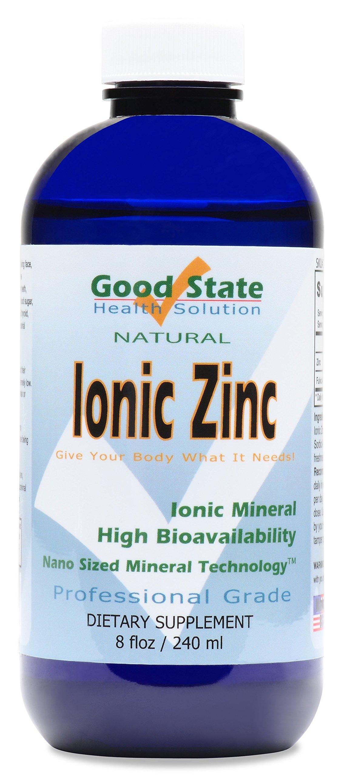 Good State Liquid Ionic Zinc (96 servings at 18 mg elemental, plus 2 mg fulvic acid - 8 fl oz)