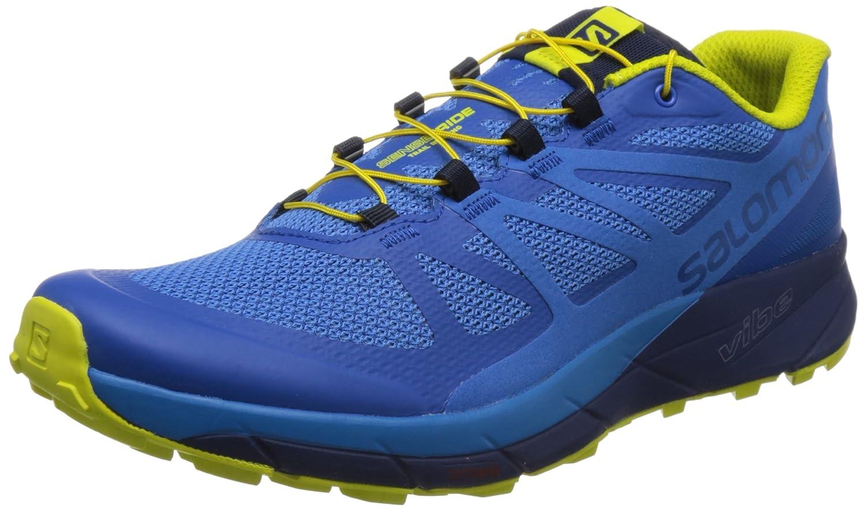Salomon Sense Ride Running Shoe - Men's B073XKRRHL 8.5 D US|Snorkel Blue/Indigo Bunting/Sulphur Spring