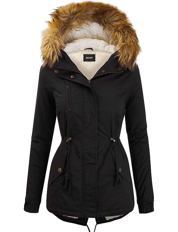 Women's Zip Up Safari Military Anorak Jacket with Hood Drawstring