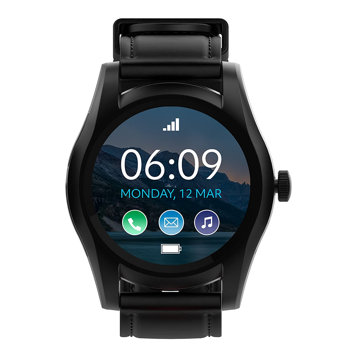 BLU X Link - Smartwatch Compatible with Android and iOS -Black