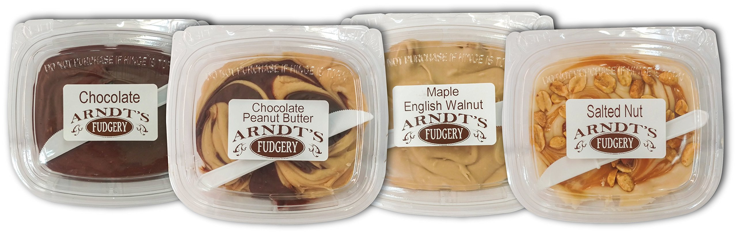 7 Oz Tubs Of Fudge (Four 7 Oz Tubs Of Fudge - Four Great Flavors) by Amish Buggy