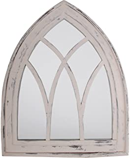 Esschert Design USA WD10 Mirror Gothic White Wash Finish