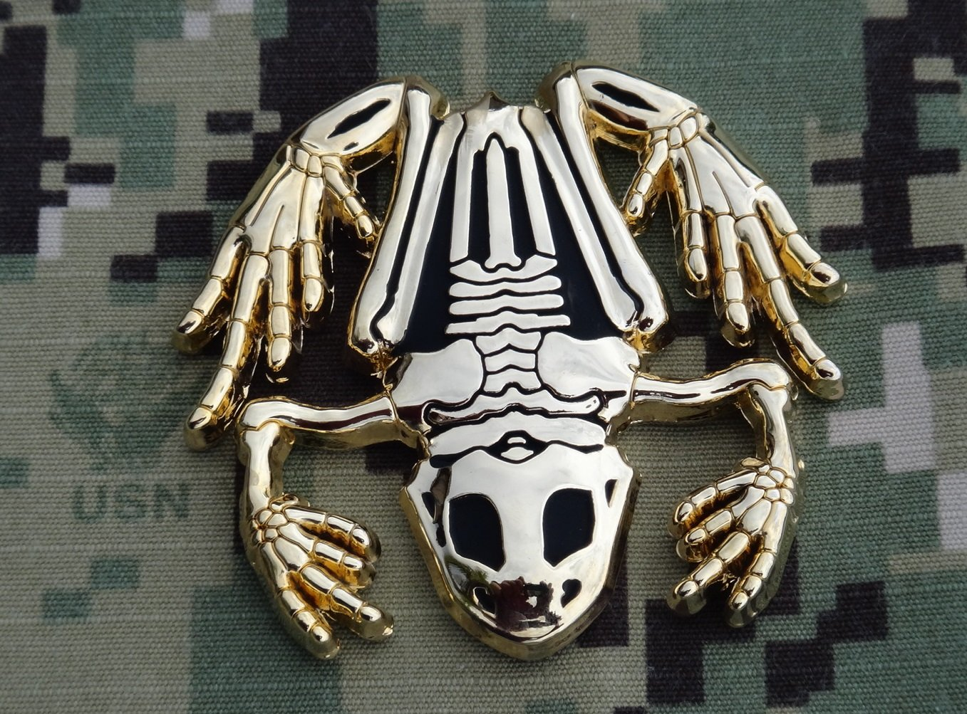 The Golden Bone Frog Navy SEAL Challenge Coin / SWCC / Diver by FLC Trading