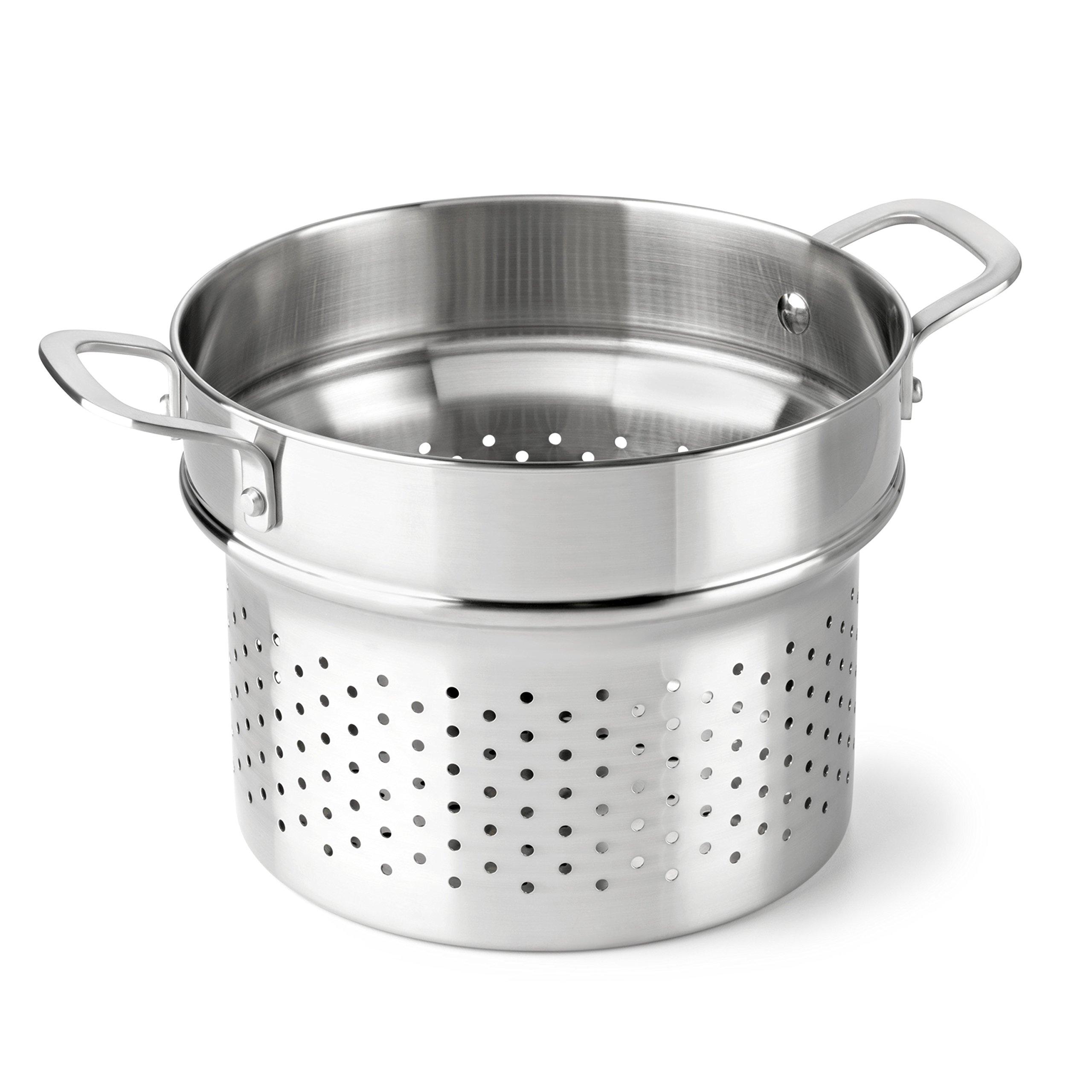 Calphalon Classic Stainless Steel Cookware, Steamer Insert, 6-quart to 8-quart