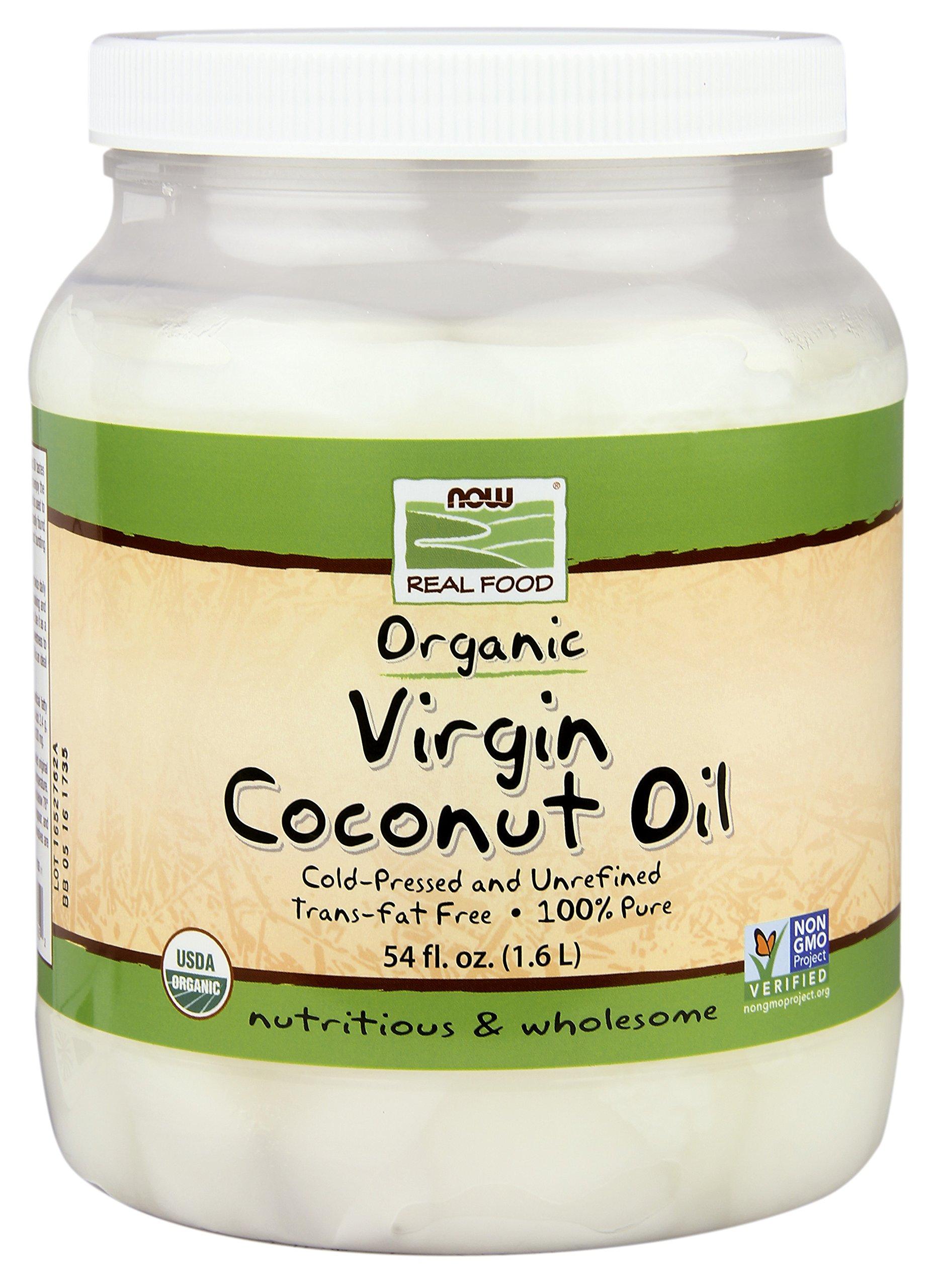 NOW  Foods Organic Virgin Coconut Oil, 54-Ounce
