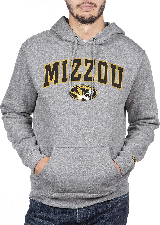 Top of the World NCAA Mens Hoodie Sweatshirt Gray Applique Arch