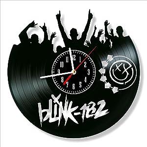 "Blink 182 Vinyl Clock, Blink 182 Wall Clock 12"", Unique Art Decor, The Best Home Decorations"