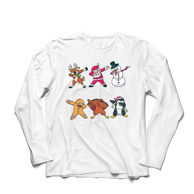lepni.me Men/'s T-Shirt Christmas Dab Dabbing Santa Claus Deer Snowman