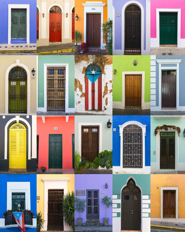 Puerto Rico Canvas, Doors of Old San Juan, Puerto Rico Wall Art, Bright, Colorful Doors - Travel Photography, Canvas, Wall Art