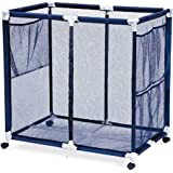 Modern Blue Pool Storage Bin - Extra Large   Perfect Contemporary Nylon Mesh Basket Organizer For Your Goggles, Beach Balls,